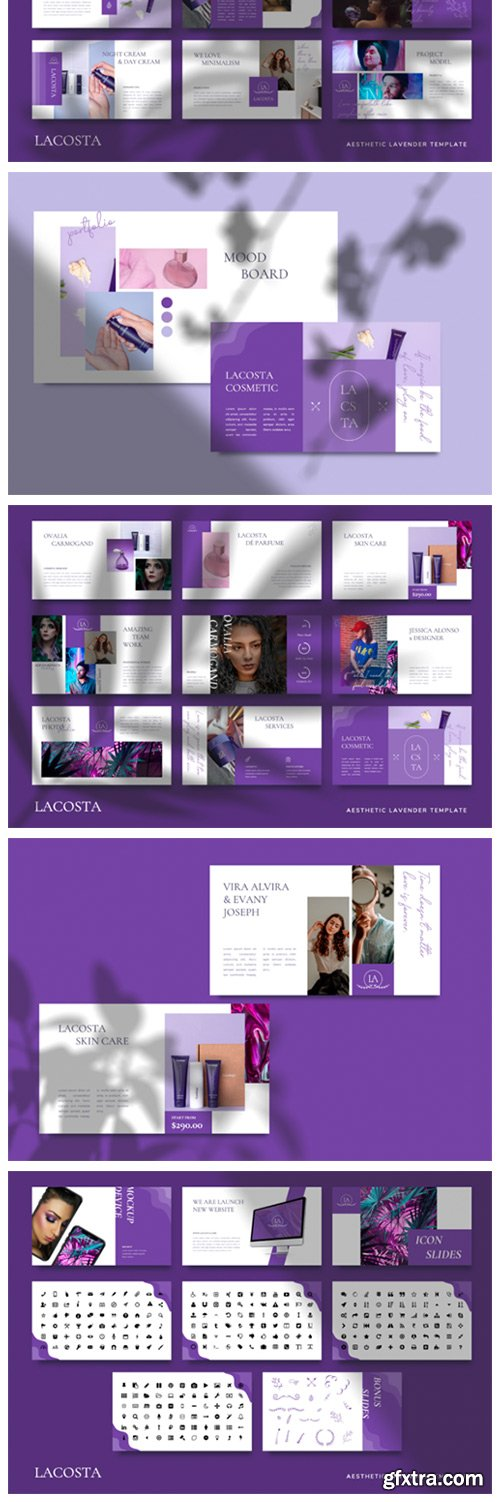 LACOSTA - Lavender Powerpoint Template 6717582