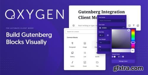 Oxygen Gutenberg Integration v1.4 - Build Gutenberg Blocks Visually - NULLED