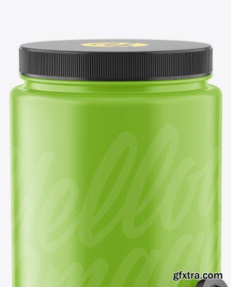 Glossy Plastic Jar w/ Spoon Mockup 69881