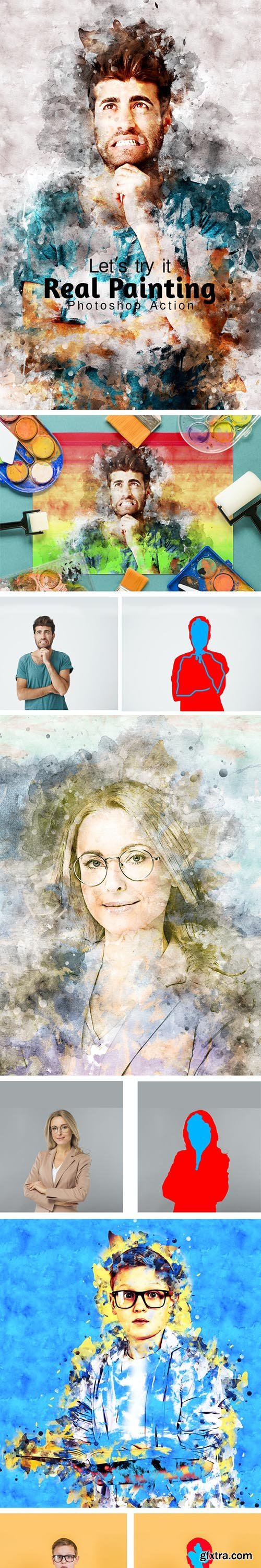 GraphicRiver - Real Painting Photoshop Action 28819341