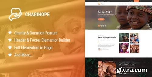 ThemeForest - Charihope v1.0.3 - Charity and Donation WordPress Theme - 23819082
