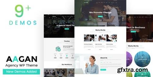 ThemeForest - Aagan v2.6 - Agency, Startup WordPress Theme - 22036400