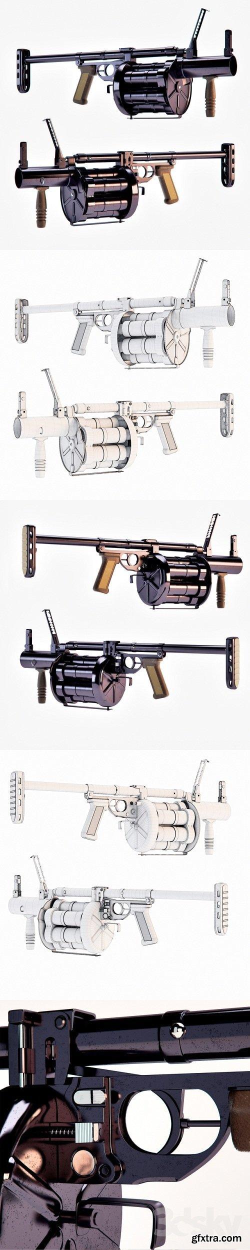 RG-6 Grenade Launcher 3d Model