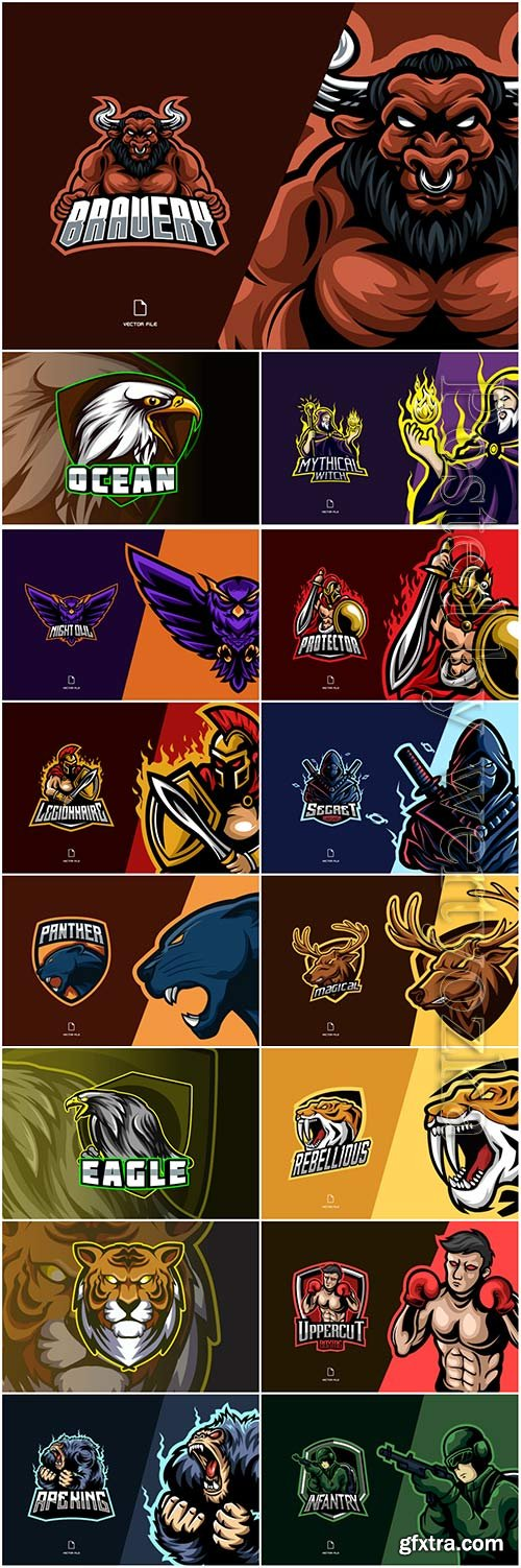 Mascot esport logo design premium vector vol 45