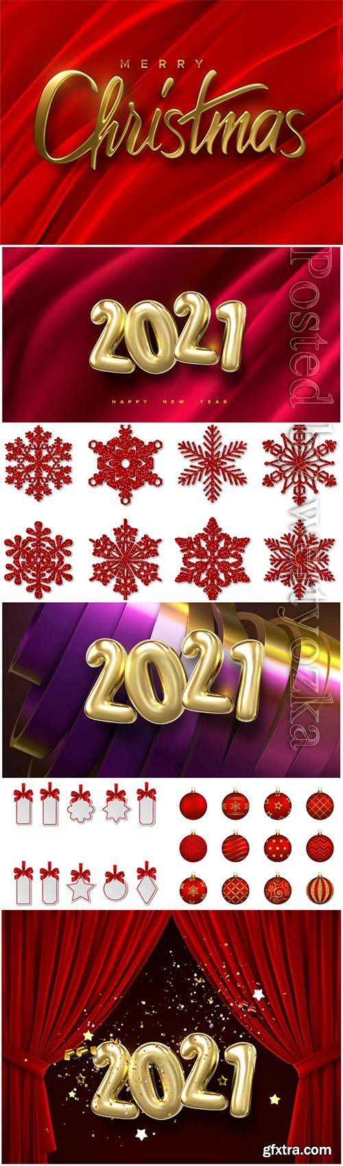 Happy new 2021 year numbers vector illustration