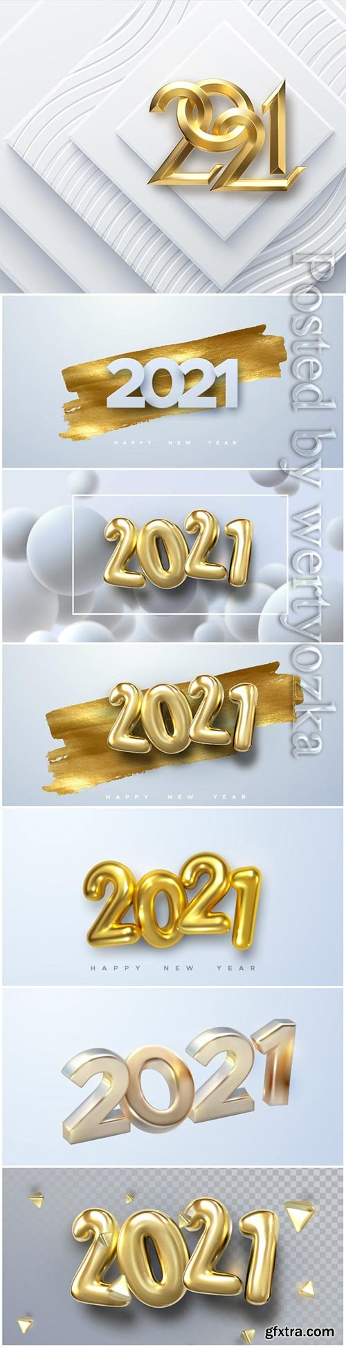 Elegant numbers 2021 for new year vector illustration
