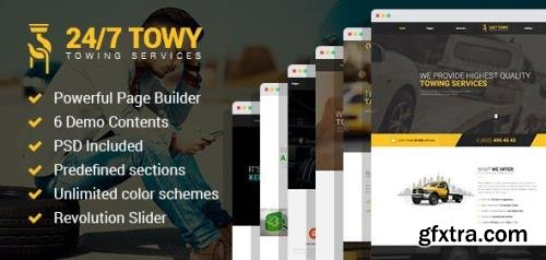 ThemeForest - Towy v1.5 - Emergency Auto Towing and Roadside Assistance Service WordPress theme - 19985673