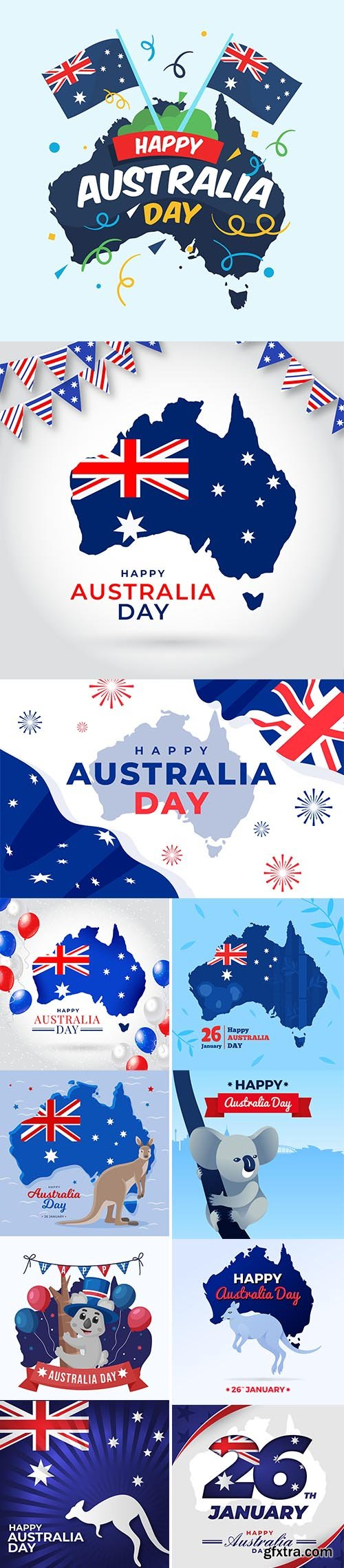 Flat australia day with koala illustration