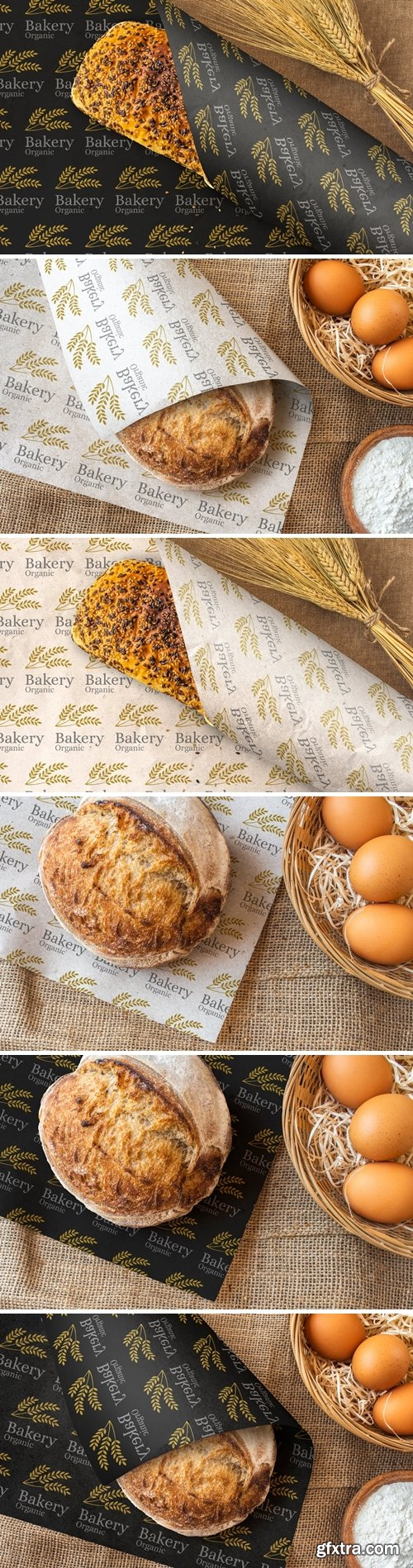 Bakery Bread Wrapping Paper