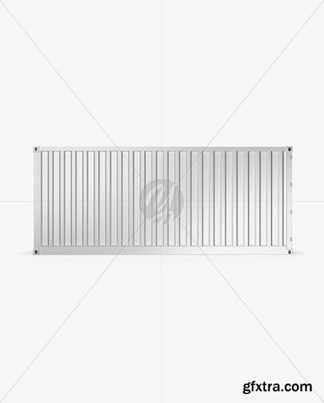 Shipping Container Mockup - Side View 67626