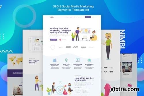 ThemeForest - Nimbl - SEO & Social Media Marketing Template Kit - 29452767