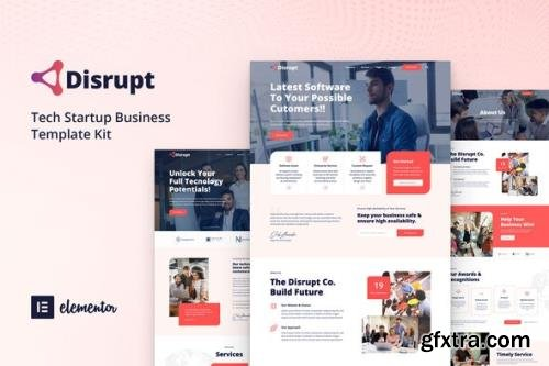 ThemeForest - Disrupt v1.0 - Tech Startup Business Elementor Template Kit - 29454453