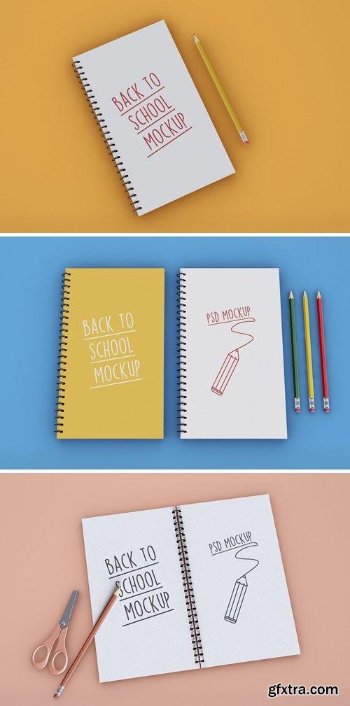 Back to School on Notebook Mockup
