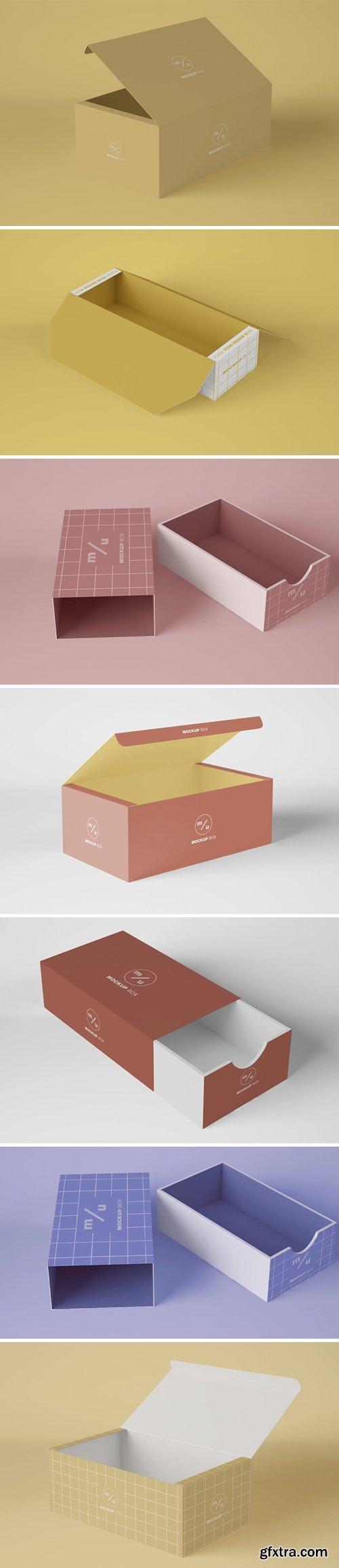 Opened Box Packaging Mockup