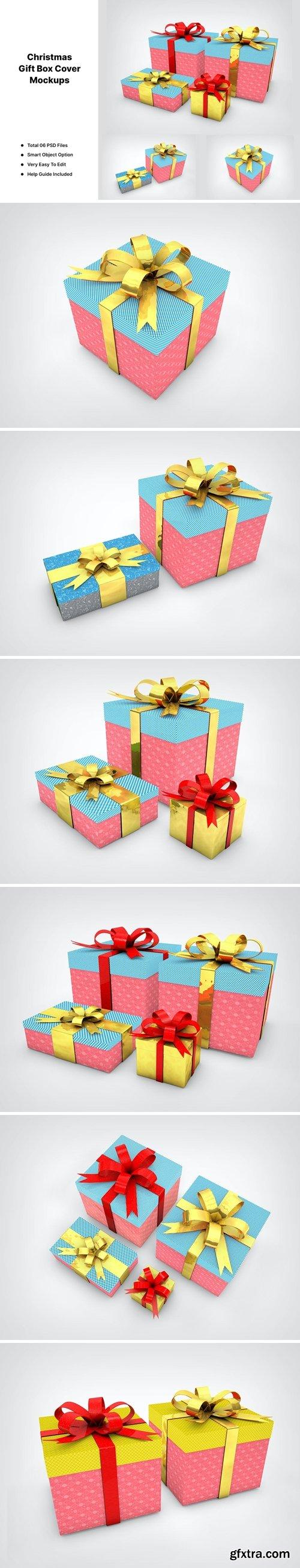 Christmas Gift Box Mockups