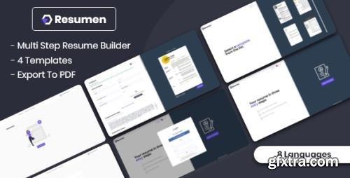CodeCanyon - Resumen 0.1 - MultiStep Resume Builder (Update: 22 October 20) - 28990151