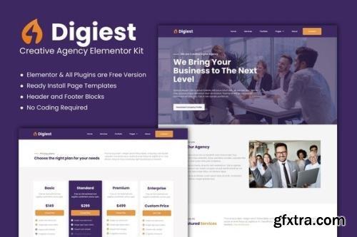 ThemeForest - Digiest v1.0.0 - Creative Agency Elementor Kit - 29294011