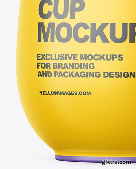 Matte Plastic Medium Yoghurt Cup Packaging Mockup 70090