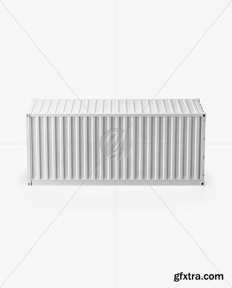 Shipping Container Mockup Side View 67387