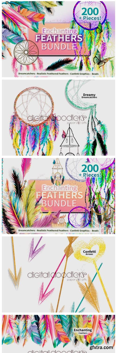 Enchanting Feathers Graphic Bundle 6772245