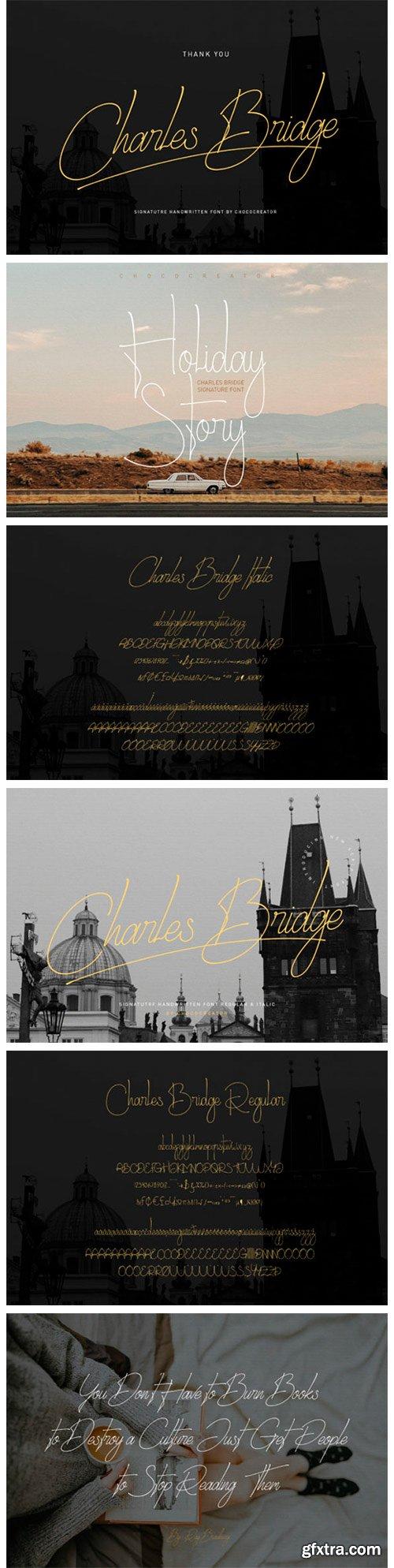 Charles Bridge Signature Handwritten Font