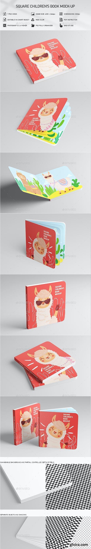 GraphicRiver - Square Children\'s Book Mock-Up 29436553
