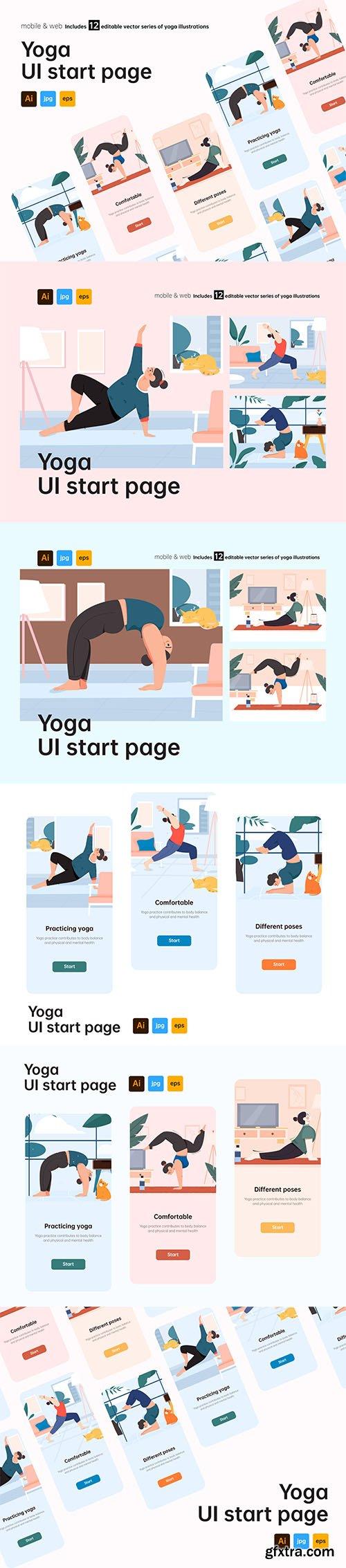 Yoga UI start page