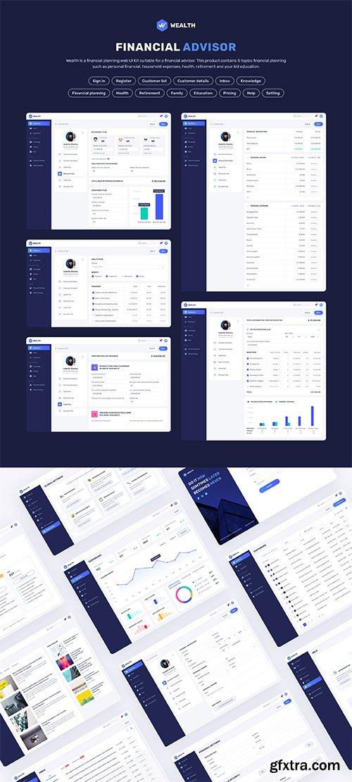Wealth - Financial Web UI Kit