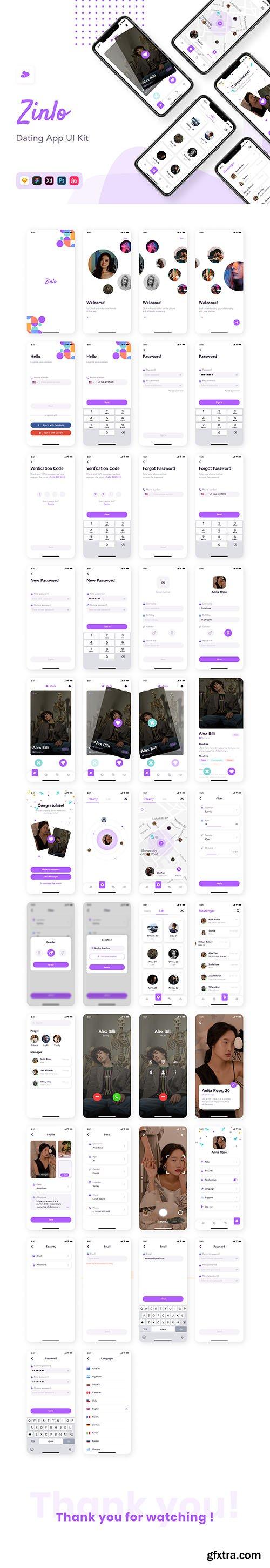 Zinlo - Dating App UI Kit