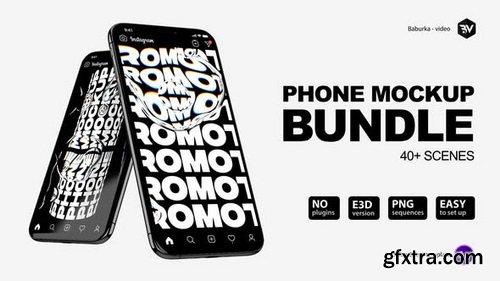 Videohive - Phone Mockup Bundle V3 - 26433855