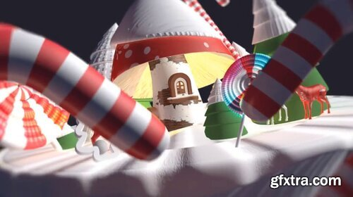 Videohive - 3d Cartoon Christmas Logo - 29348492