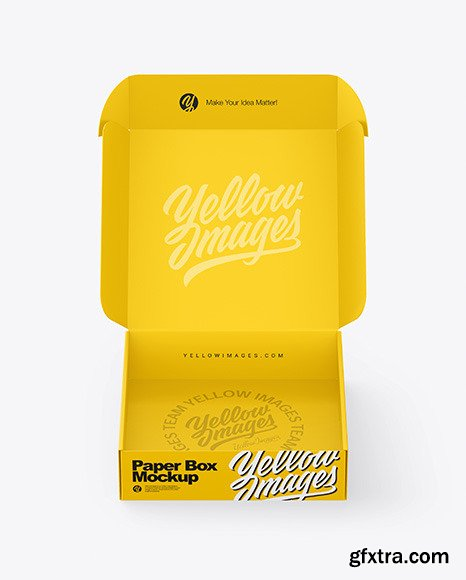 Opened Paper Box Mockup 70123
