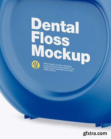Open Dental Floss Mockup - Half Side View 70074