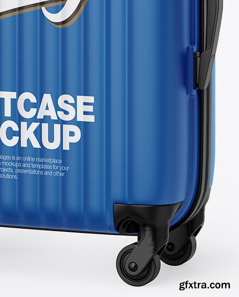 Travel Suitcase Mockup - Half Side View 70109