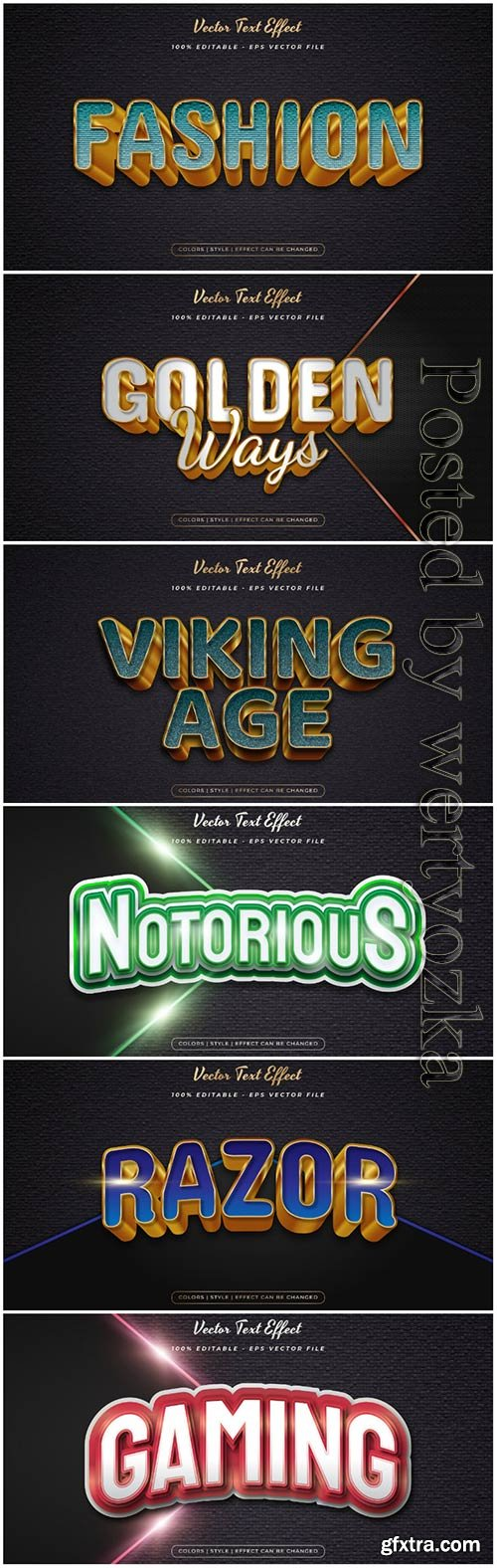 Elegant text style with embossed and textured effect in concept vector