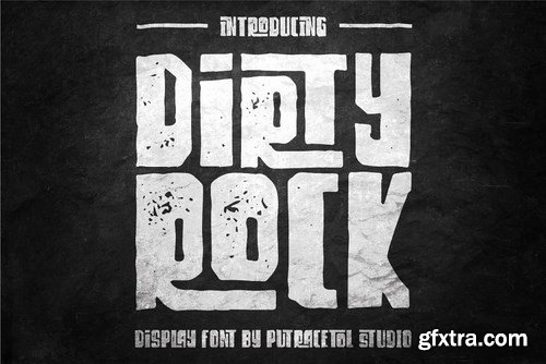 CM - Dirty Rock Typeface 3458451
