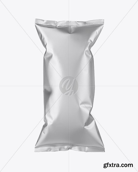 Matte Metallic Snack Package Mockup 70234