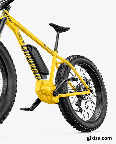 Fat Bike Mockup - Left Half Side View 70262
