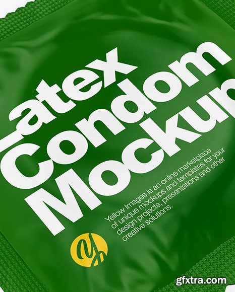 Matte Condom Packaging Mockup 70216
