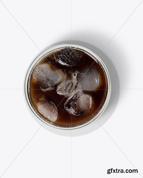 Cold Coffee with Ice w/ Coaster Mockup 70230
