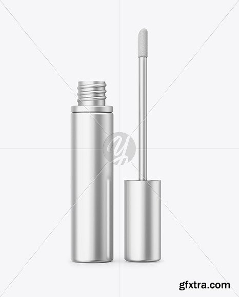 Opened Cosmetic Metallic Bottle Mockup 69831