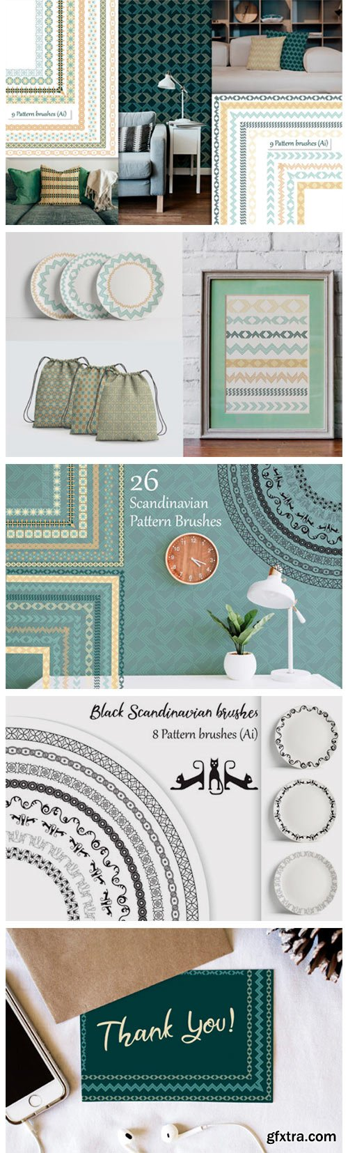 Scandinavian Pattern Brushes 6798389