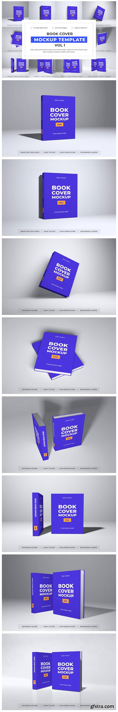 Book Cover Mockup Template Bundle Vol 1 6701917