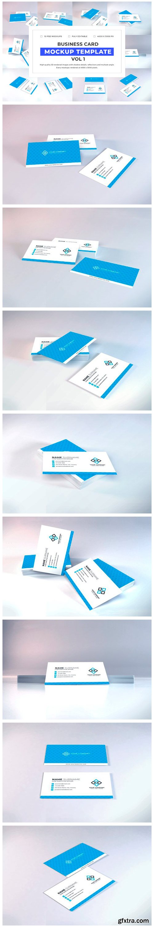 Business Card Mockup Bundle Vol 1 6702084