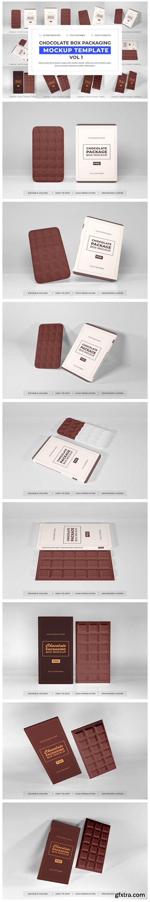 Chocolate Box Mockup Bundle Vol 1 6702384