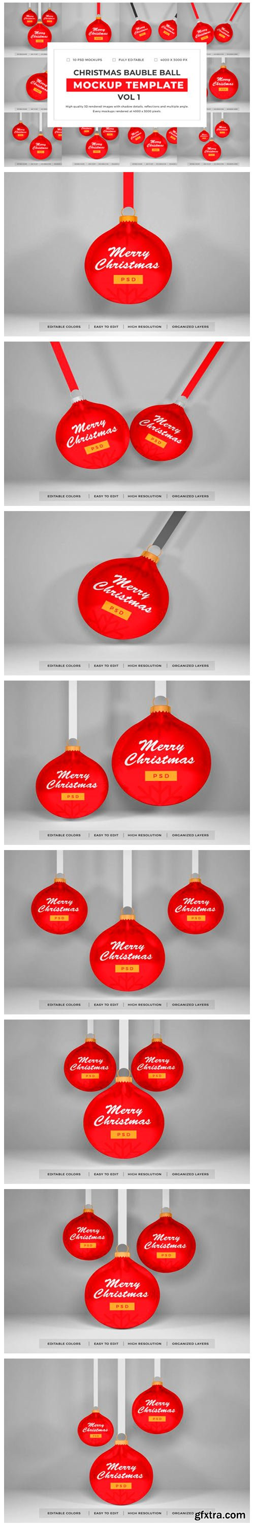 Christmas Bauble Mockup Bundle Vol 1 6702946