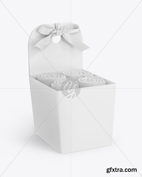 Box with Towels Mockup 70277