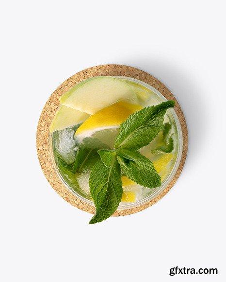 Mojito Cocktail w/ Coaster Mockup 70177
