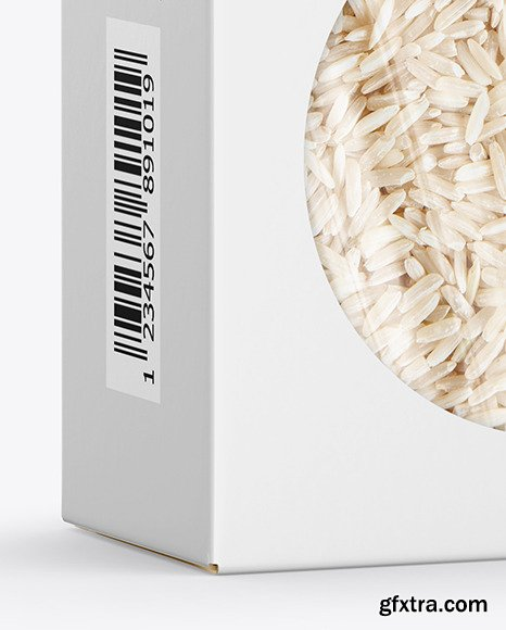 Paper Box with Rice Mockup 70171