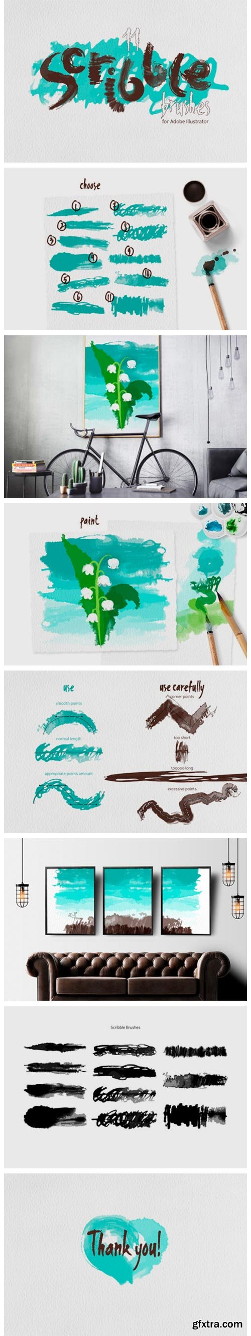 Scribble Brushes for Illustrator 6796669